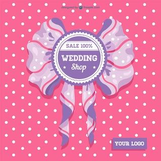 Vector de boda con lazo