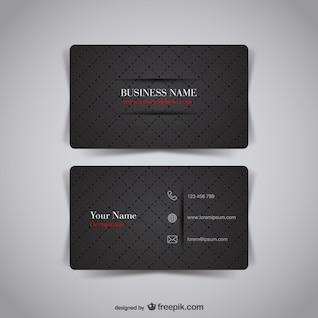 Diseño de tarjeta de visita oscura