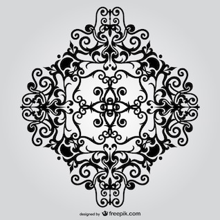 Vector ornamental floral