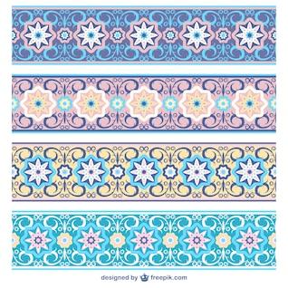 Ornamentos florales horizontales