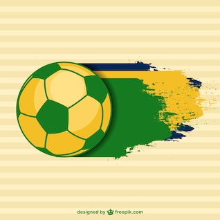 Vector plantilla de fútbol brasileño