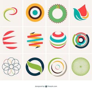 Colección de plantillas de logotipo esférico