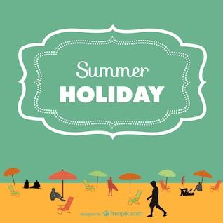 Vector de fondo de vacaciones de verano