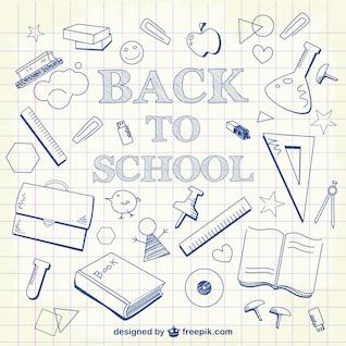Colección de dibujos de escuela