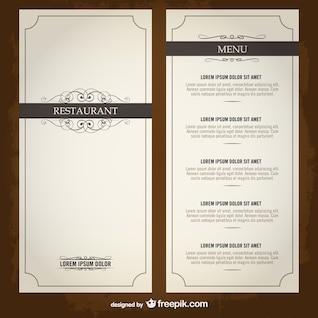 Plantilla de carta elegante para restaurante