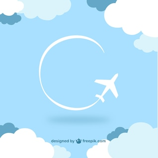 Fondo cielo con un avión