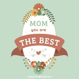 Tarjeta tipográfica del día de la madre