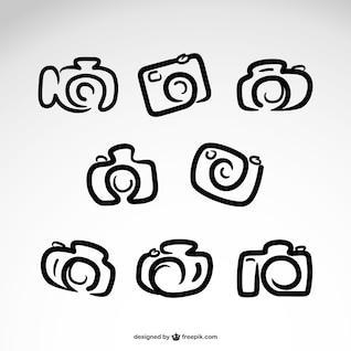 Logos de cámara dibujados a mano