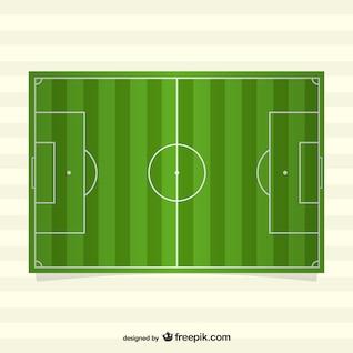 Vector de campo de fútbol en horizontal
