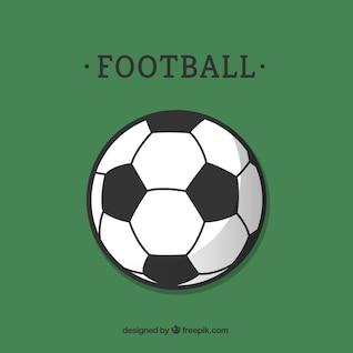 Balón de fútbol plano