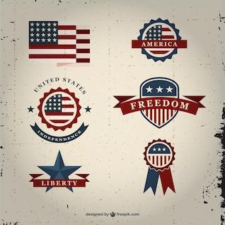 Insignias vintage de Estados Unidos