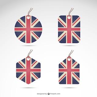 Pack de etiquetas de Reino Unido
