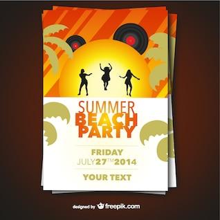 Cartel de fiesta de verano en la playa
