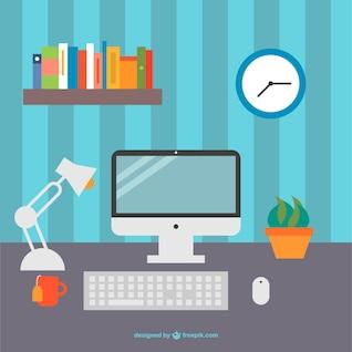 Gráficos vectoriales de escritorio de oficina