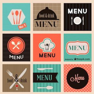 Conjunto de vectores de restaurante