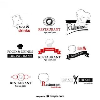 Pack de plantillas de logotipo de restaurante