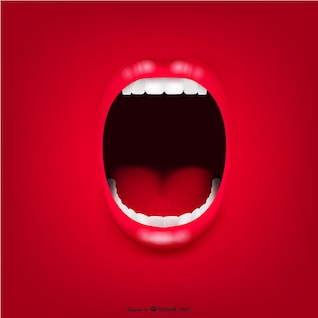 Vector de boca gritando
