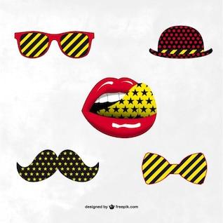 Pack de accesorios hipster