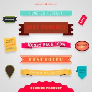 Colección de banners de ofertas