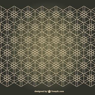 Patrón de fondo estilo árabe