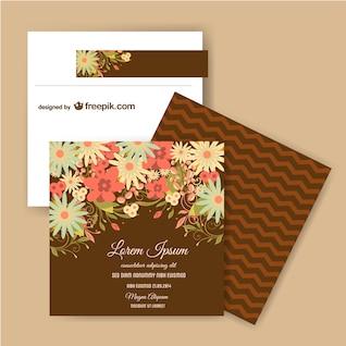Plantilla floral para tarjetas