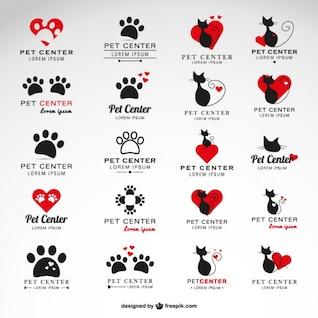 Colección de logos para centro veterinario