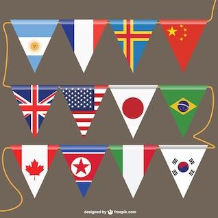 Banderines de países