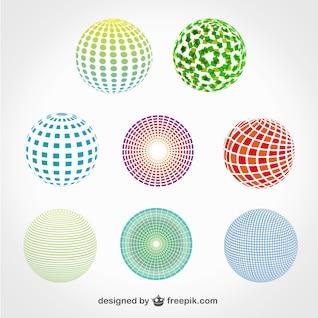 Pack de plantillas esféricas para logos