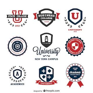 Plantillas de logotipos de universidad