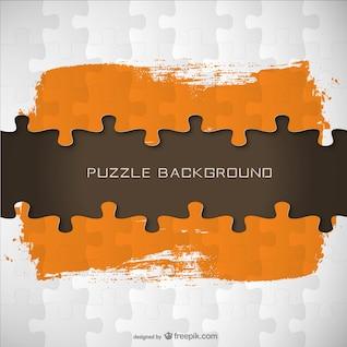 Plantilla estilo puzle con pinceladas naranjas