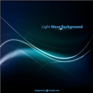 Fondo con onda de luz azul