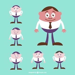 Vector caricatura de hombre de negocios