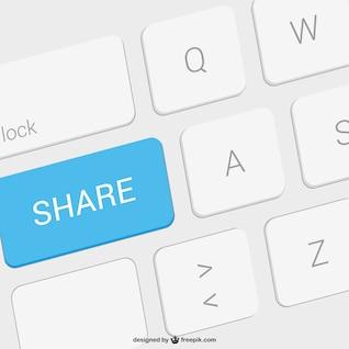 Ilustración con tecla de compartir