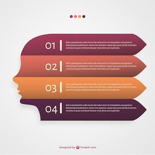 Vector infografía con barras horizontales