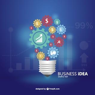 Infografía ideas de negocios con iconos