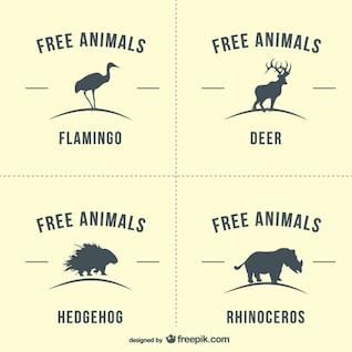 Vector siluetas de animales