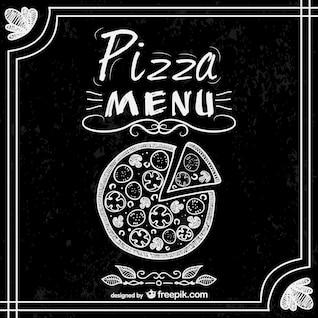 Menú de pizzería estilo pizarra