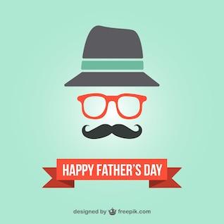 Tarjeta hipster para el día del padre