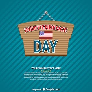 Vector cartel del Día de la Independencia