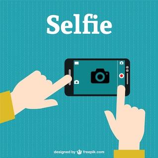 Vector selfie con smartphone