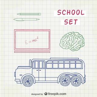 Bocetos de escuela