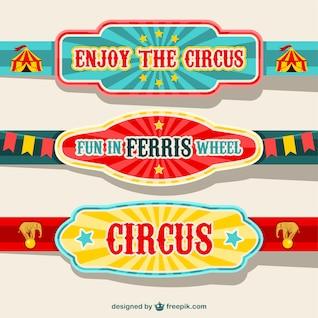 vector banners de circo