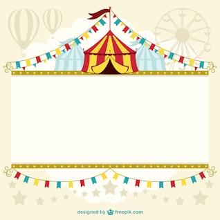 Diseño de plantilla de carpa de circo