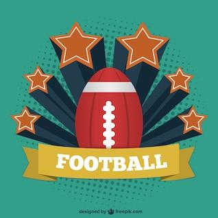 Plantilla vintage de fútbol americano