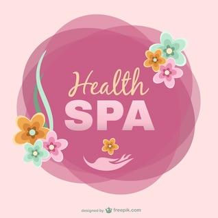 Logo de spa con flores