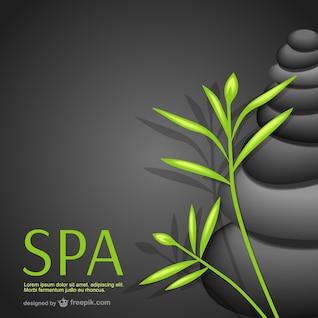 Fondo de spa con plantas