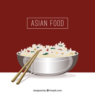 Fondo artístico comida japonesa