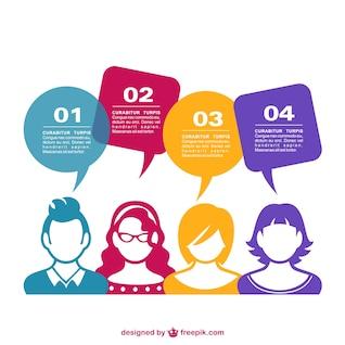 Diseño de gente en redes sociales