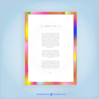 Plantilla de marco de colores