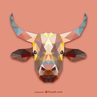 Vector cabeza de vaca
